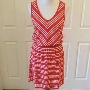 Tommy Hilfiger Striped Elastic Waist Dress